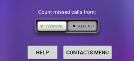 Change Profile on Missed Calls application